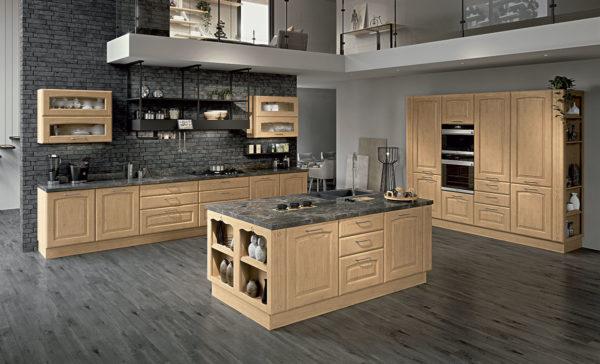 Cucina lube con Isola.